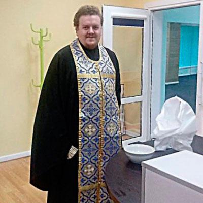 Отец Амвросий совершил обряд освящения помещений Центра «Савита»